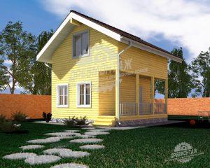 Проект дома из бруса 6х6″Ленинский»