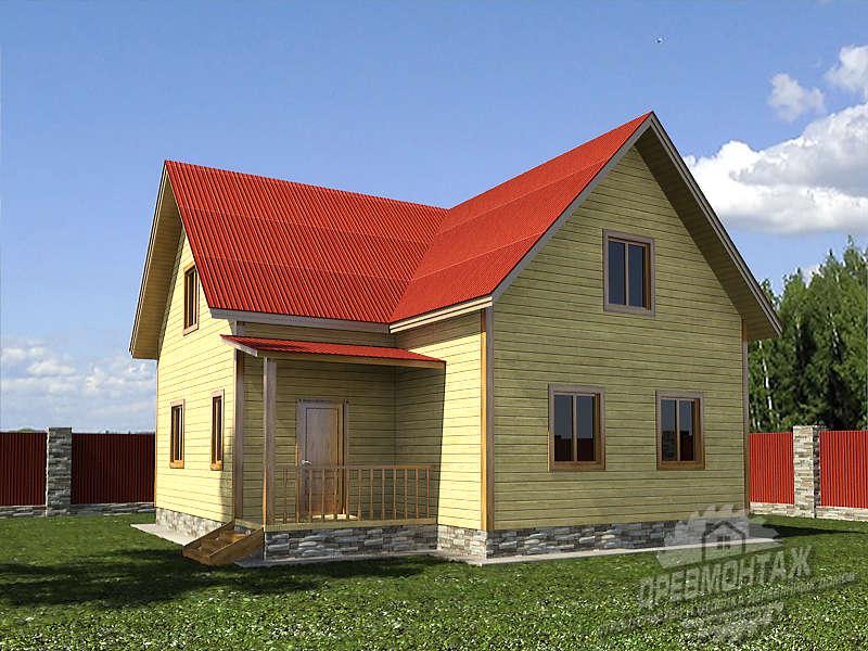 Проект дома из бруса 9х9″Саратовский»