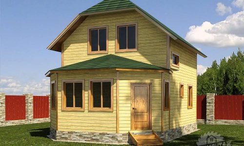 Проект дома из бруса 7х10″Сибирский»