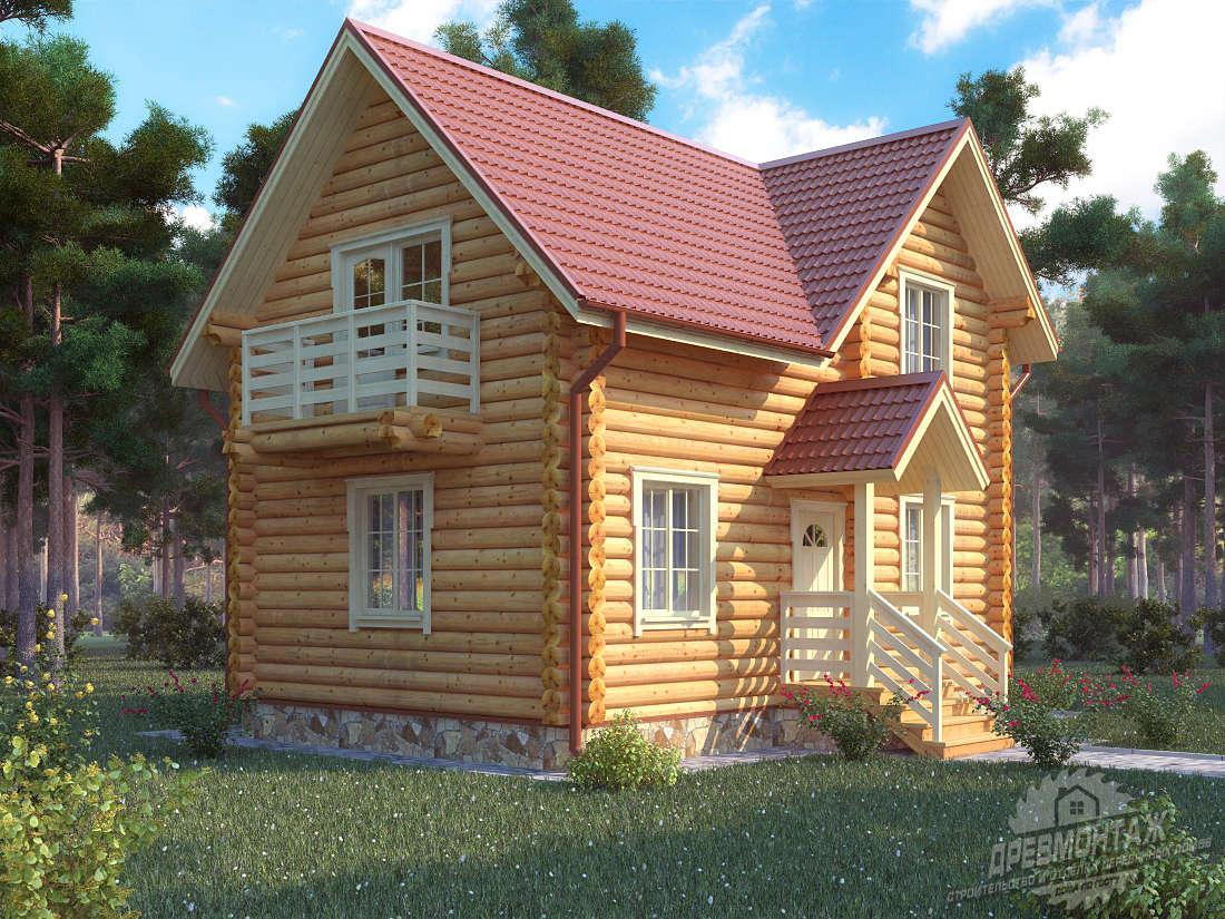 Проект дома из бревна 6х9″Сосновый»