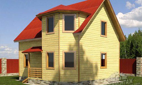 Проект дома из бруса 7х8″Вологодский»