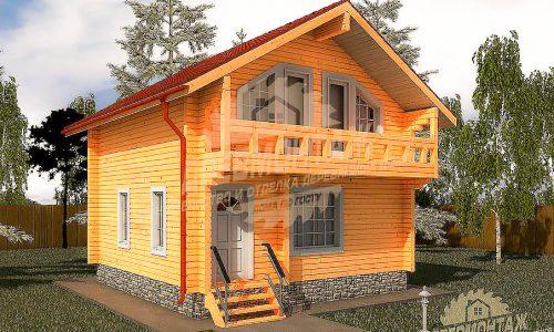 Проект дома из бруса 7х7″Ногинск»