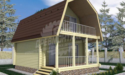 Проект дома из бруса 6х6″Луговой»