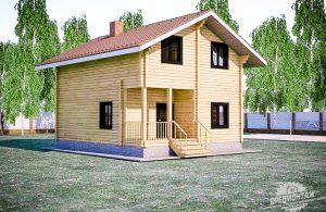 проект дома из бруса 7,5х7