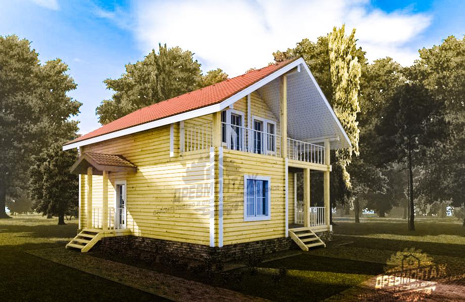Проект дома из бруса естественной влажности Королев
