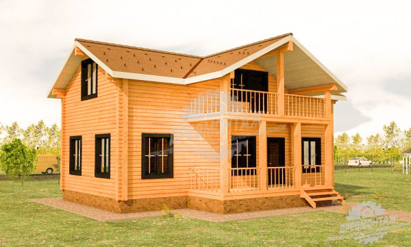 Проект дома из бруса «Истра»